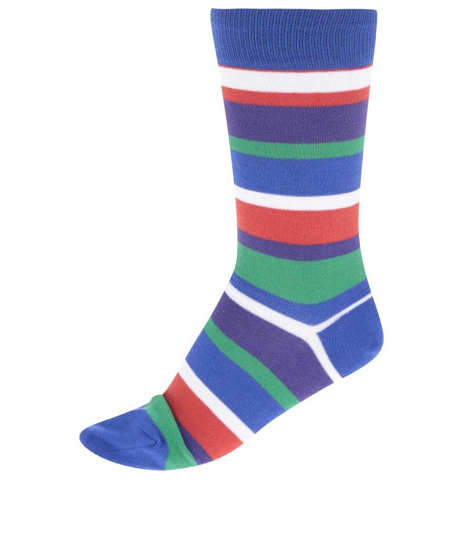 Modré ponožky s barevnými pruhy CR7