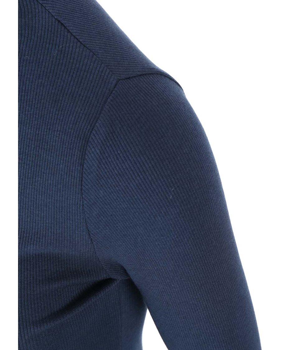 Tmavě modré tričko s nízkým rolákem VILA Ran