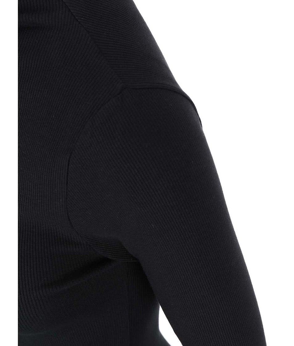 Černé tričko s nízkým rolákem VILA Ran