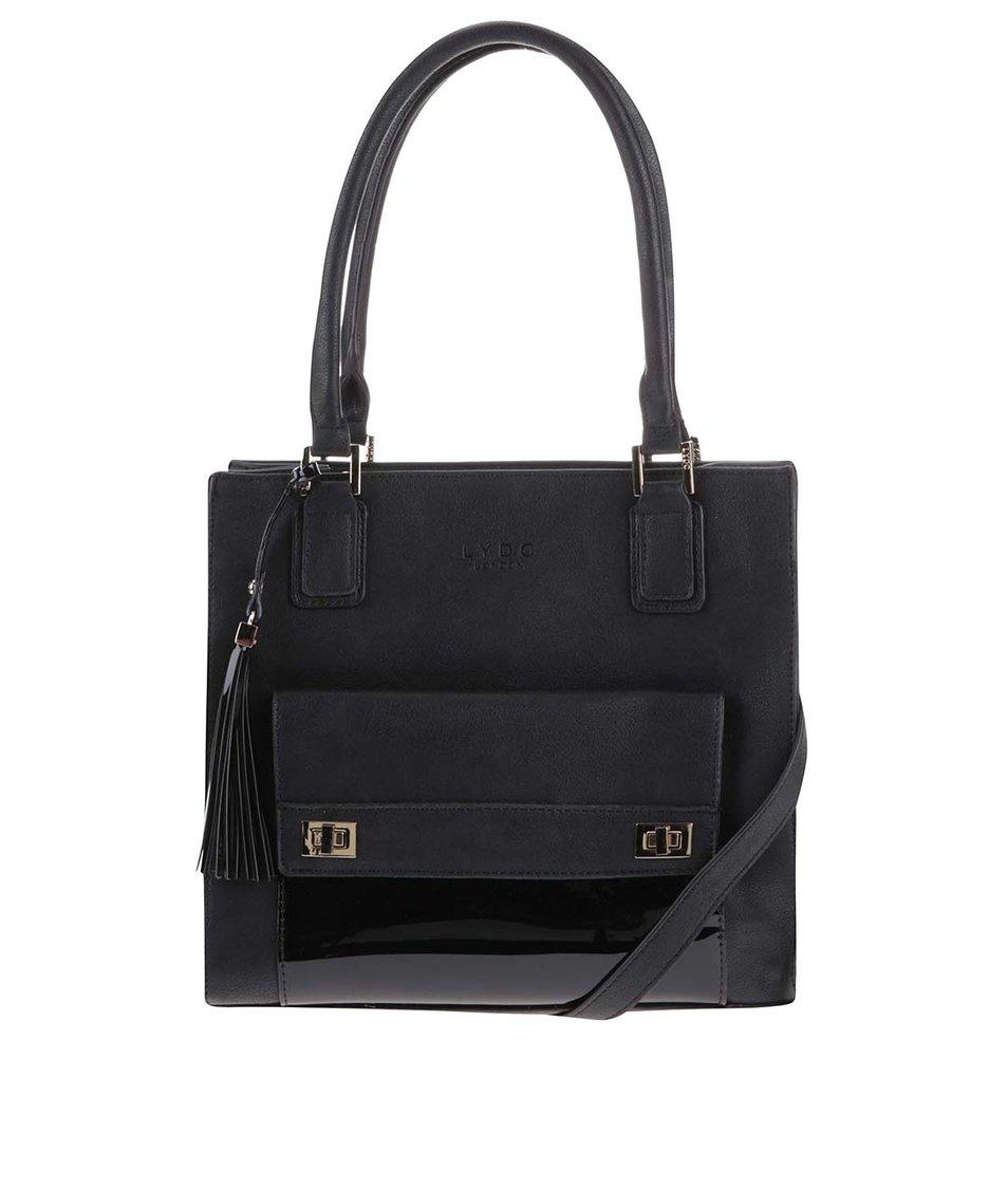 Černá menší kabelka s kapsou LYDC