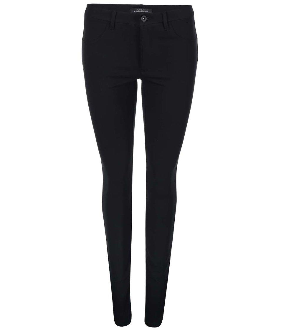 Černé strečové kalhoty ONLY Mira