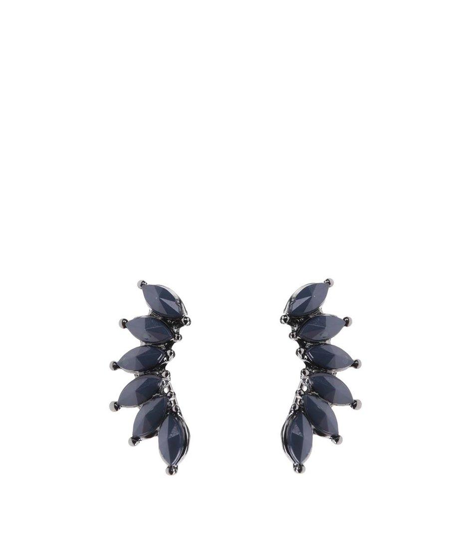 Tmavě modré náušnice Pieces Vania