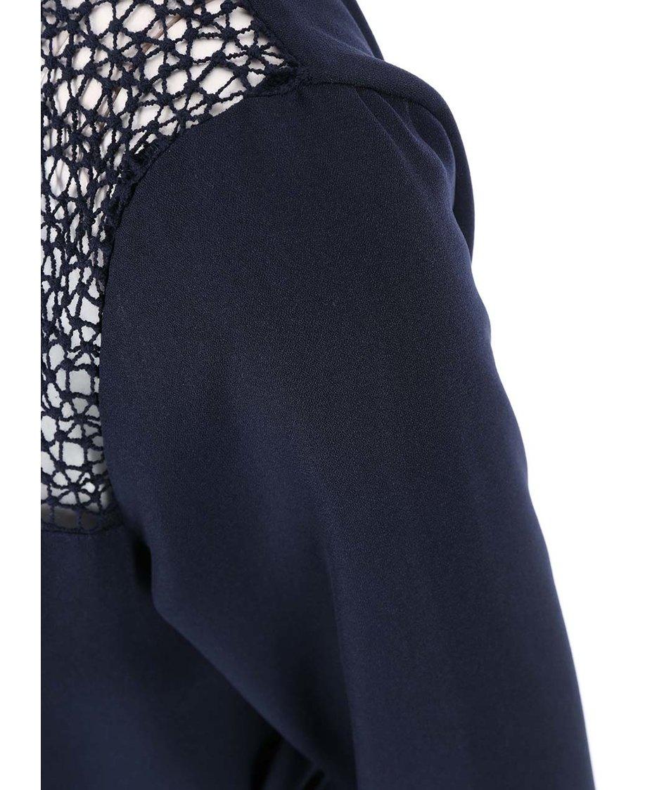 Tmavě modré šaty s 3/4 rukávy ONLY Kado
