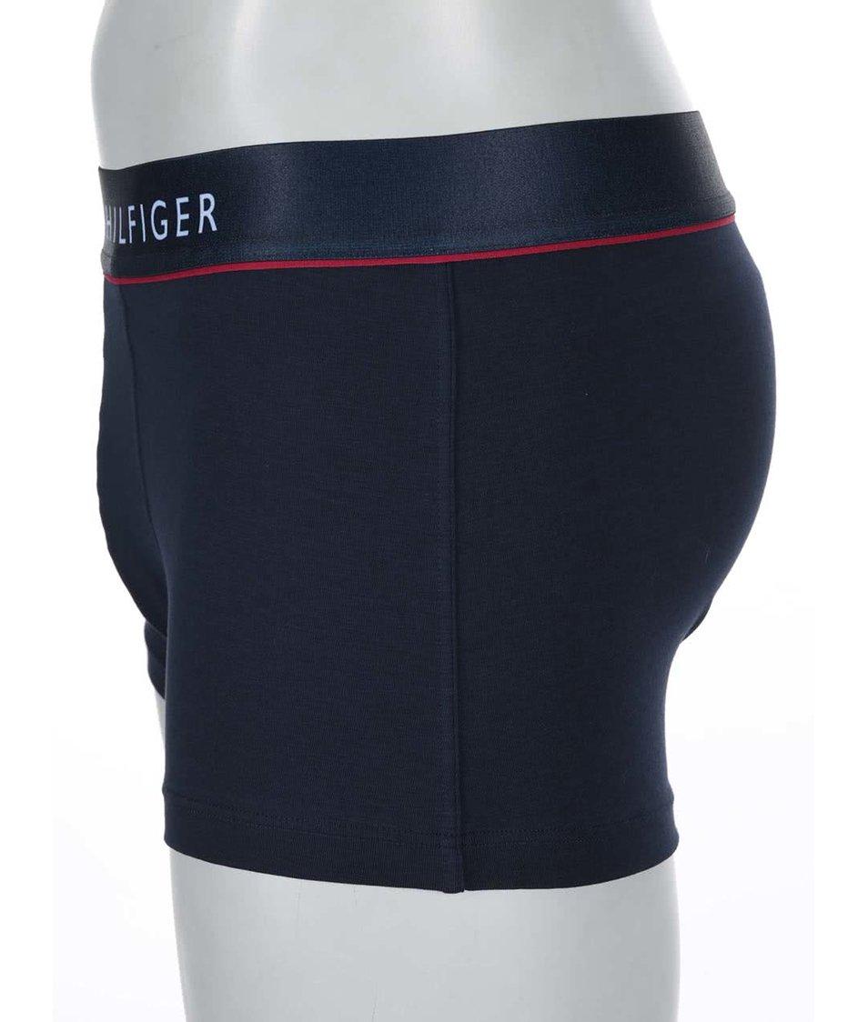 Modré kratší bavlněné boxerky Tommy Hilfiger