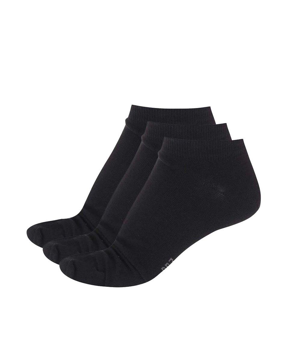 Sada tří černých kotníkových ponožek CR7