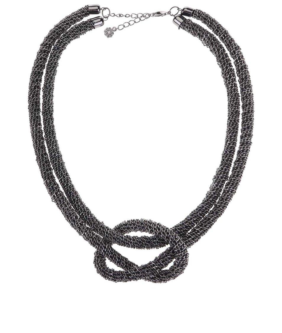 Proplétaný náhrdelník v metalické barvě Pieces Venola