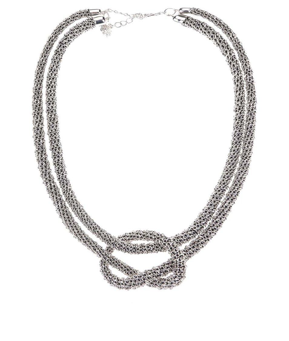 Proplétaný náhrdelník ve stříbrné barvě Pieces Venola