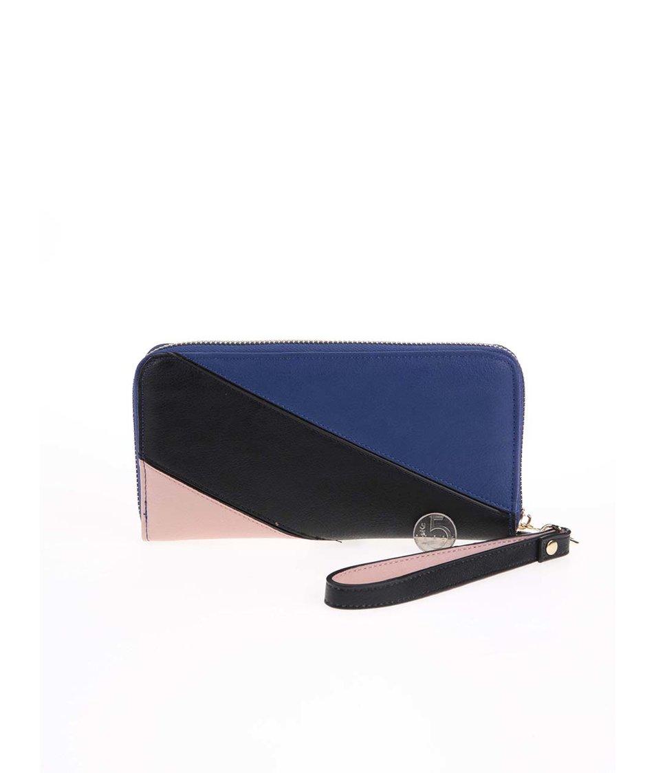 Černo-modrá obdelníková peněženka LYDC