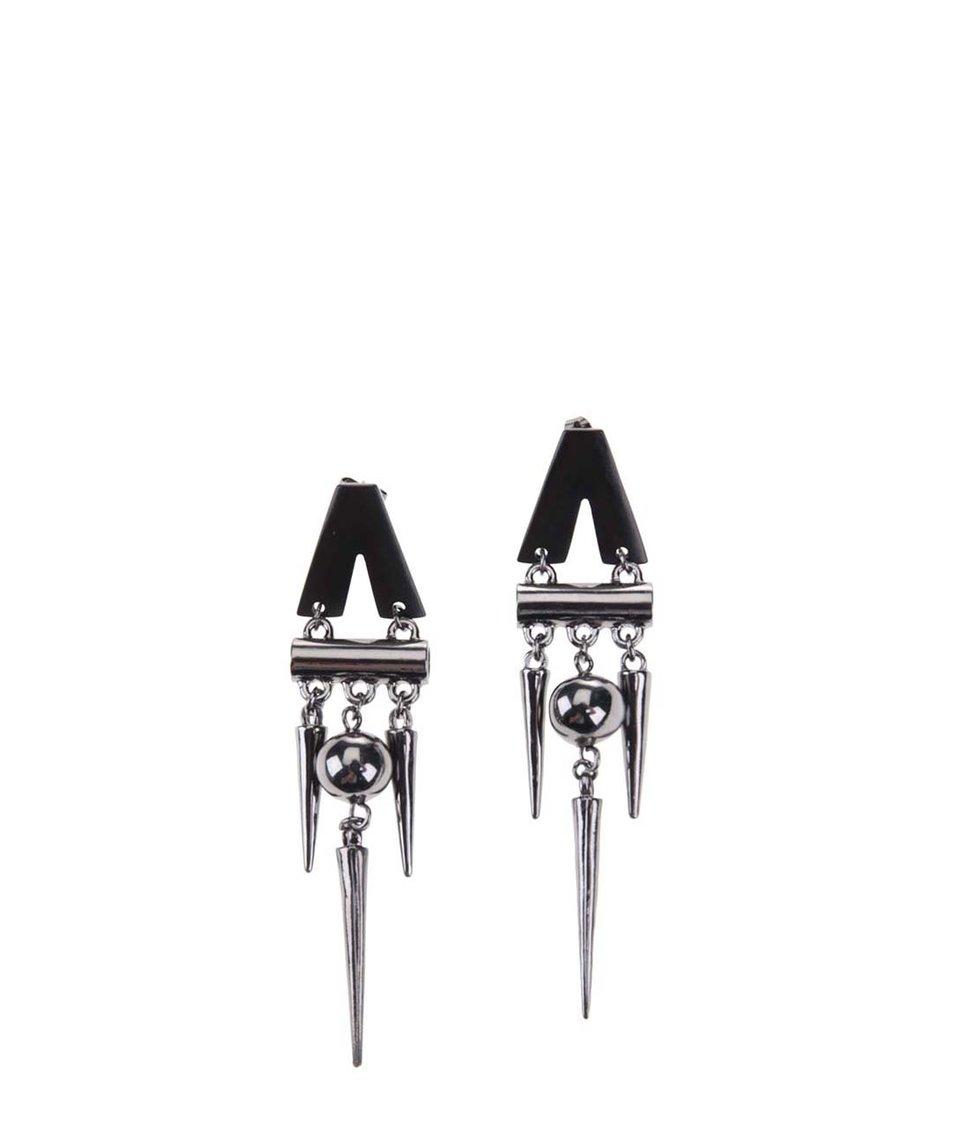 Visací náušnice v metalické barvě Pieces Voxanna