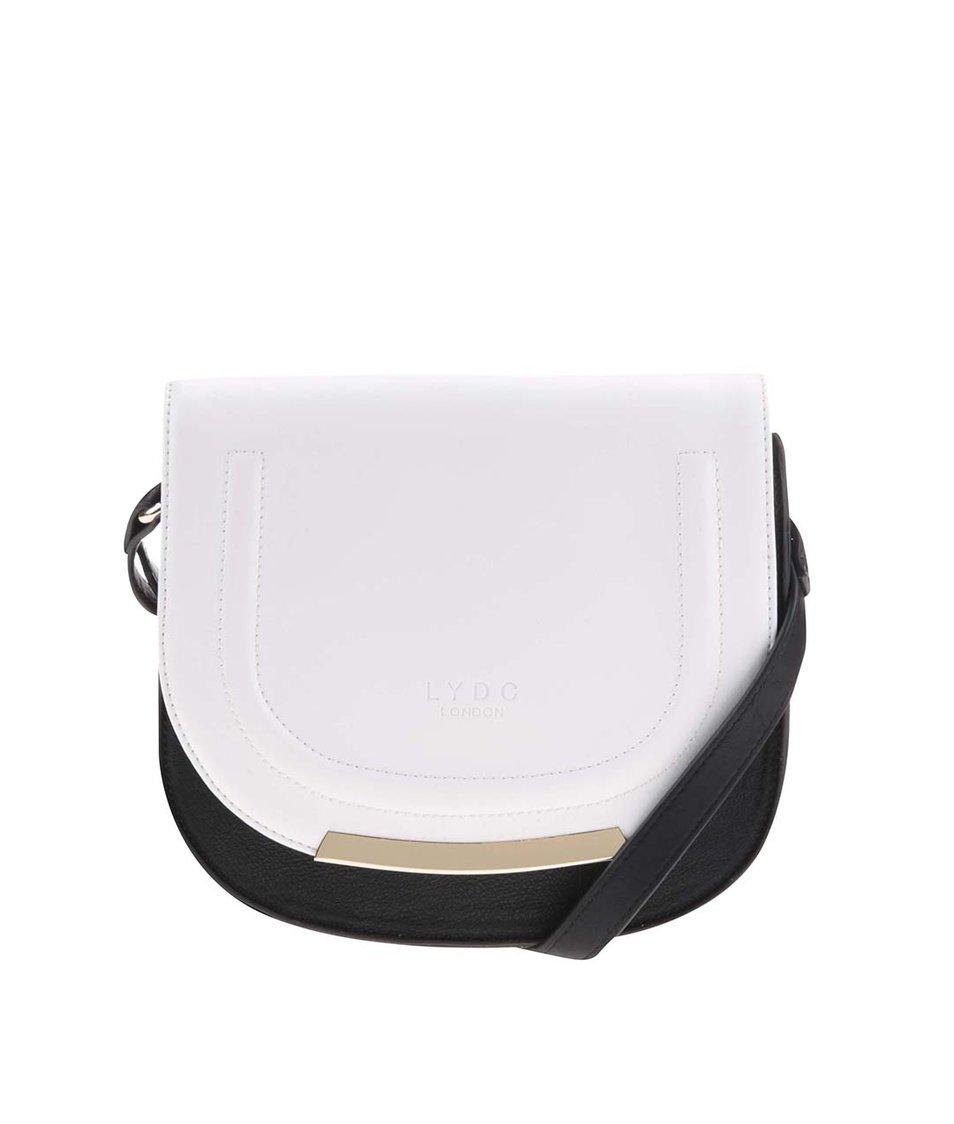 Černo-bílá crossbody kabelka LYDC