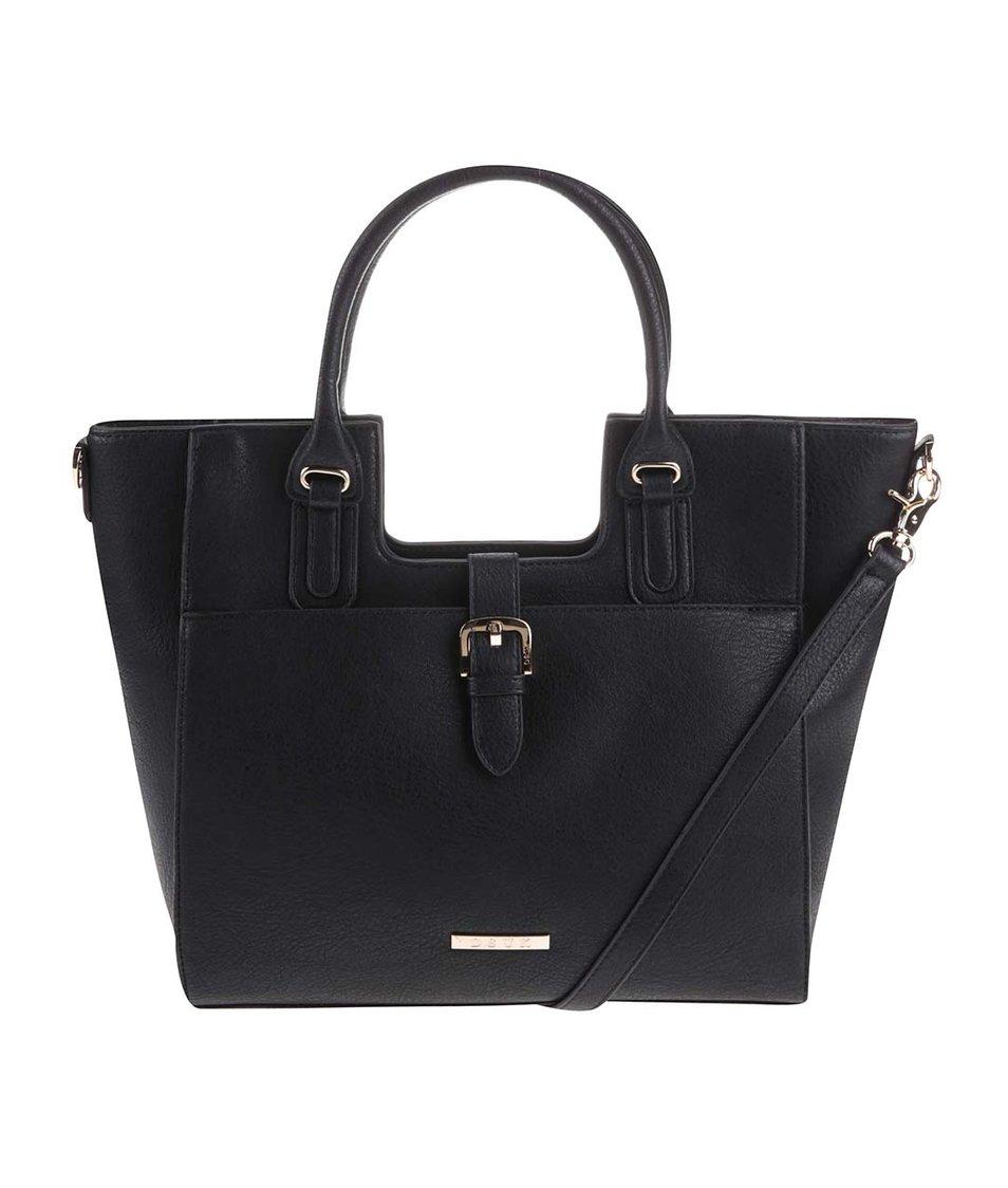 Černá velká kabelka s detaily v zlaté barvě DSUK
