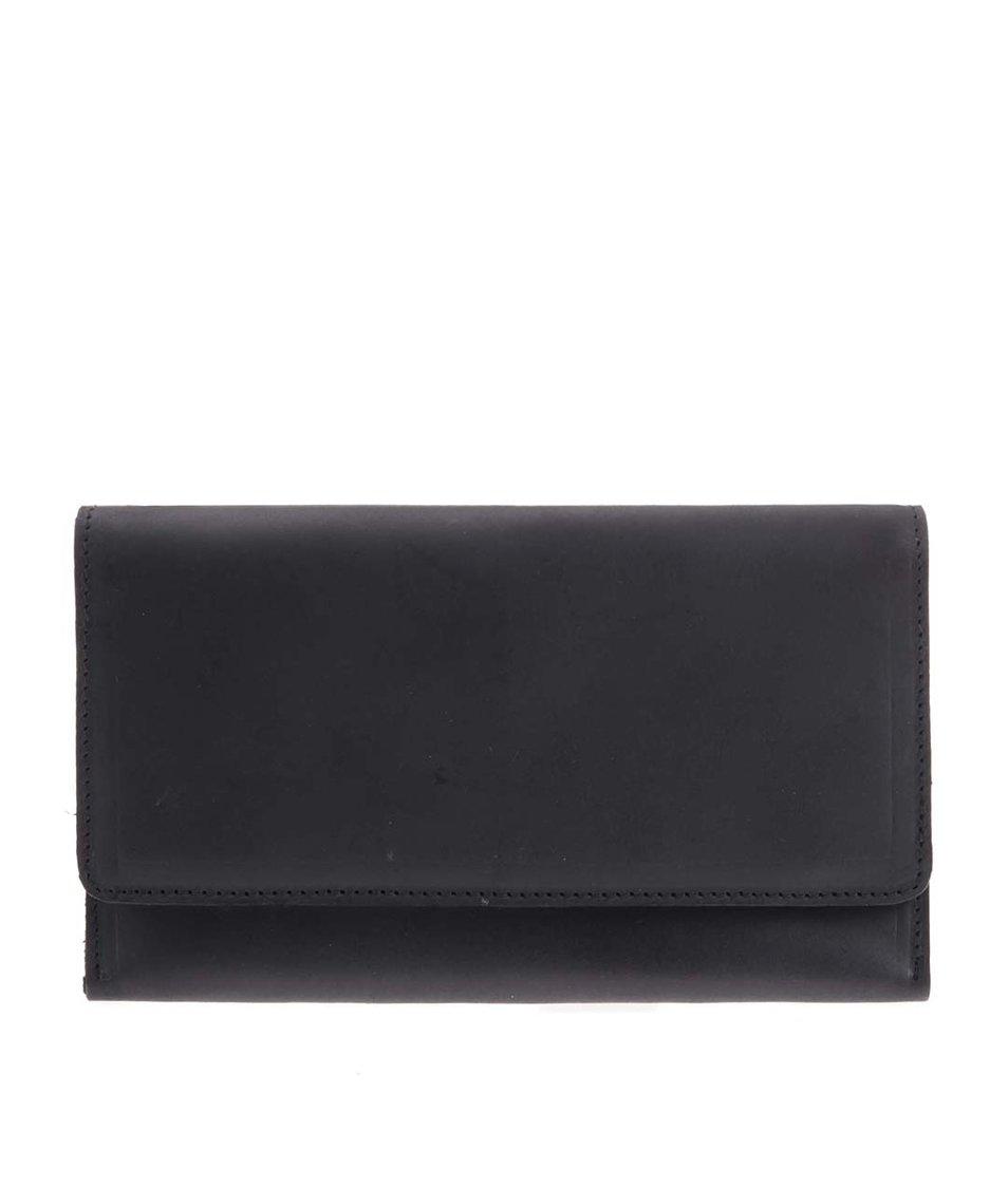 Černá kožená peněženka Pieces Vogeu