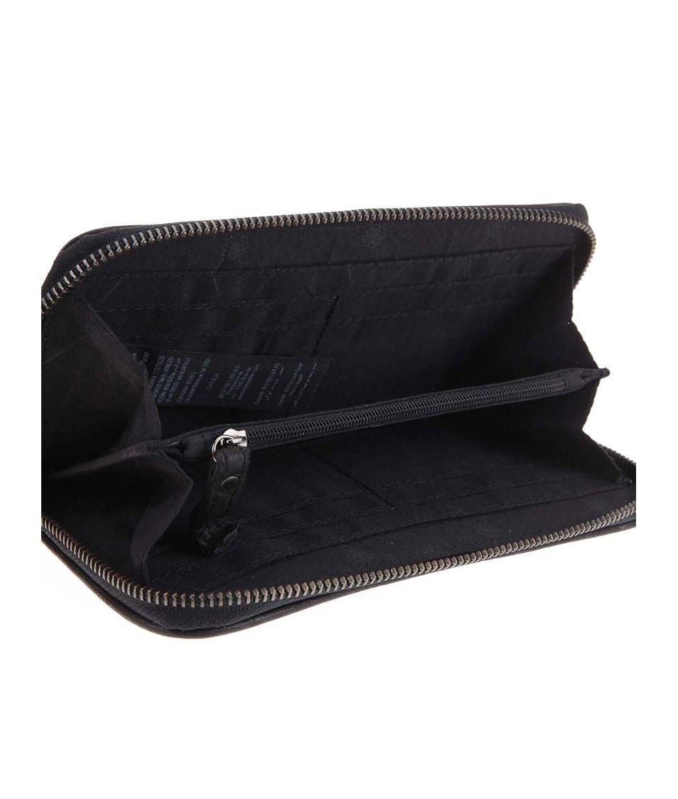 Černá kožená peněženka Pieces Elrica