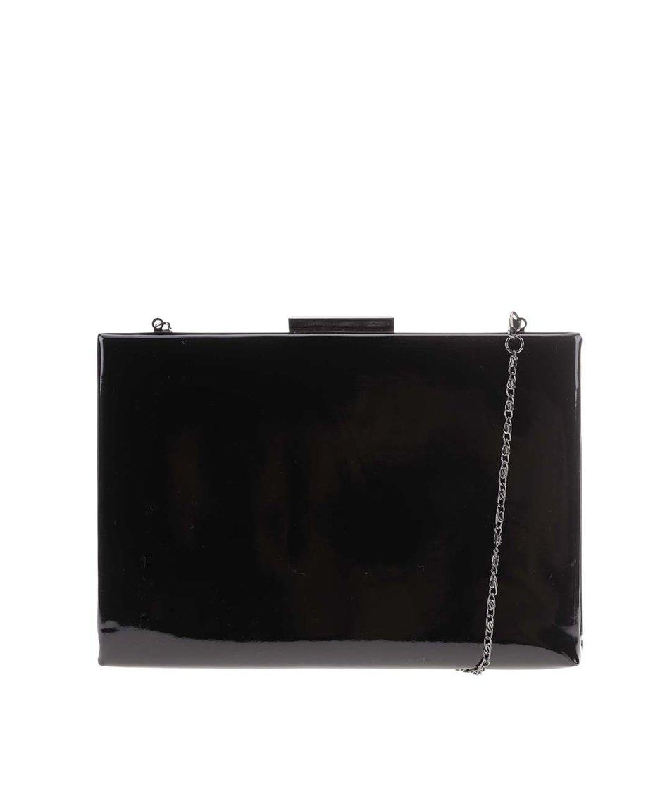 Černá lakovaná kabelka přes rameno Pieces Verbena
