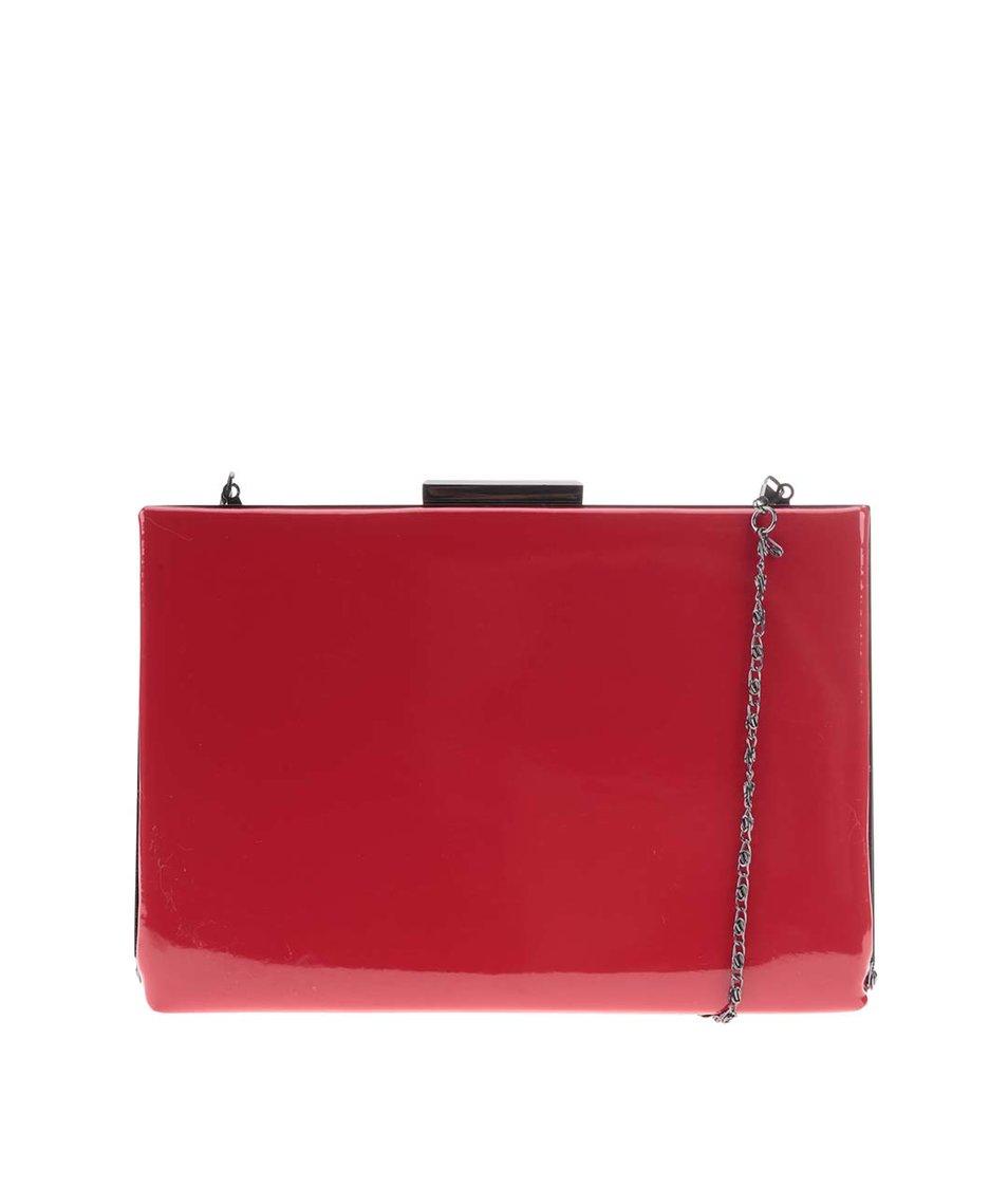 Červená lakovaná kabelka přes rameno Pieces Verbena