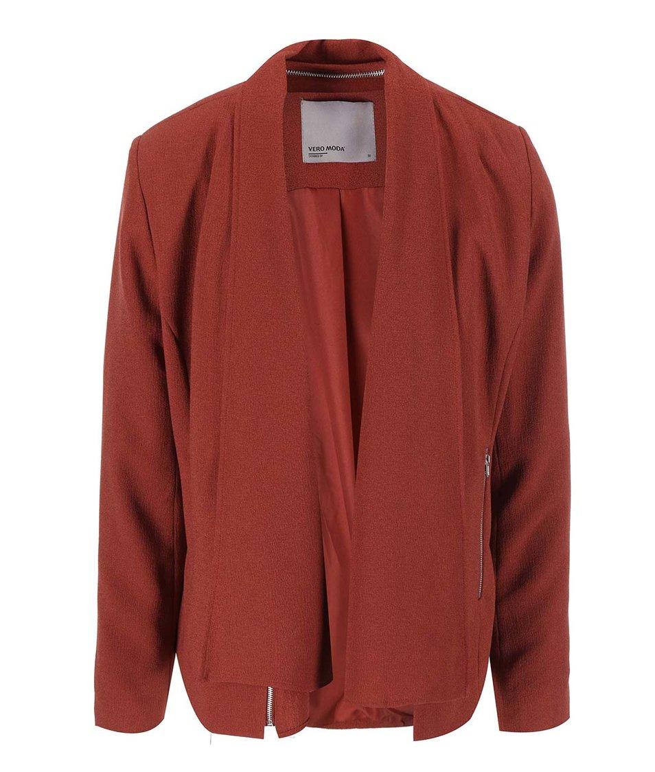 Červenohnědý blejzr s kapsami Vero Moda Marianne