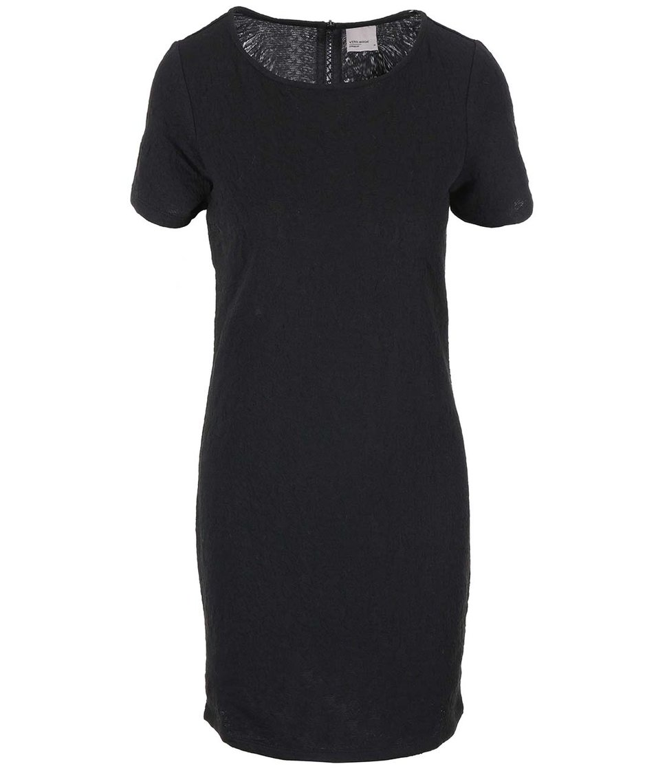 Černé šaty se vzorem Vero Moda Avian New