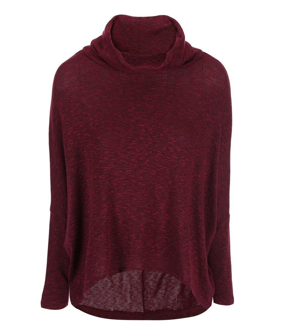 Vínový oversized svetr New Look
