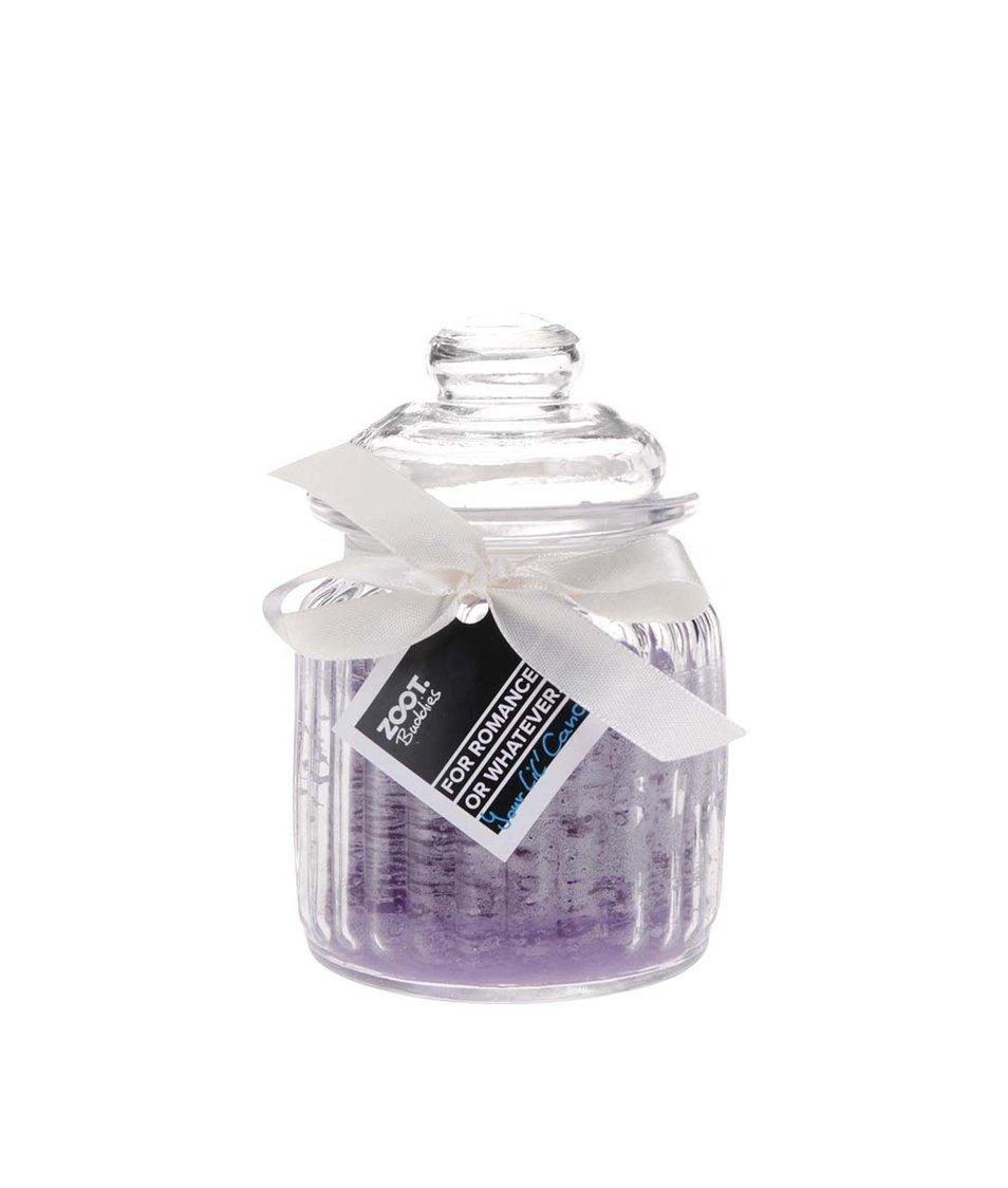Vonná svíčka v malé skleněné dóze ZOOT Buddies Levandule