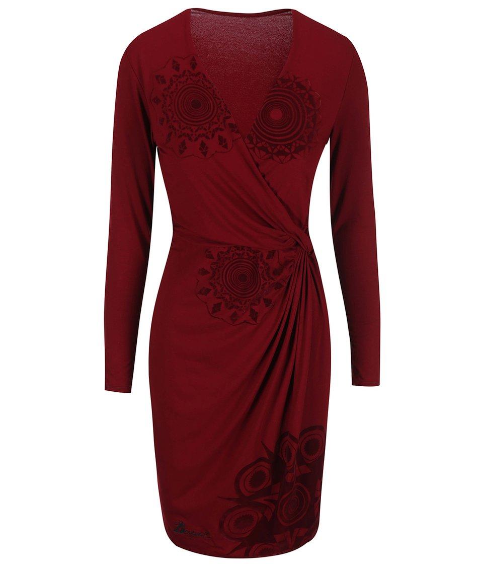 Červené šaty s ornamenty Desigual Celia