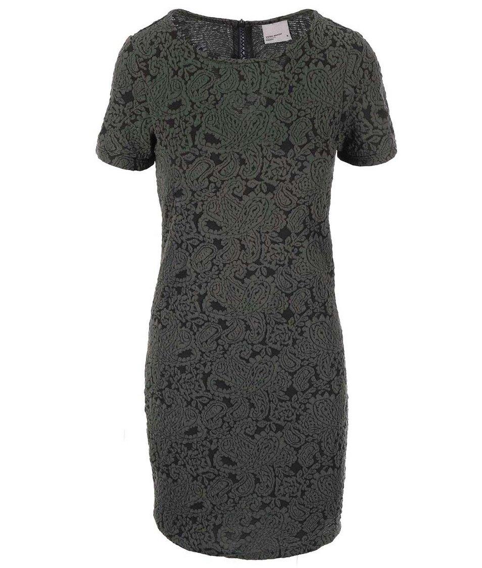 Khaki šaty se vzorem Vero Moda Avian New
