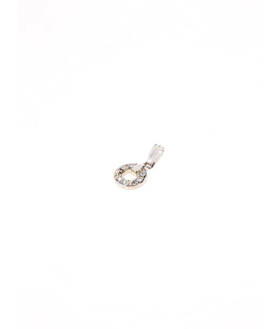 Sada přívěsků a náušnic ve stříbrné barvě v černé kazetě Pierre Cardin