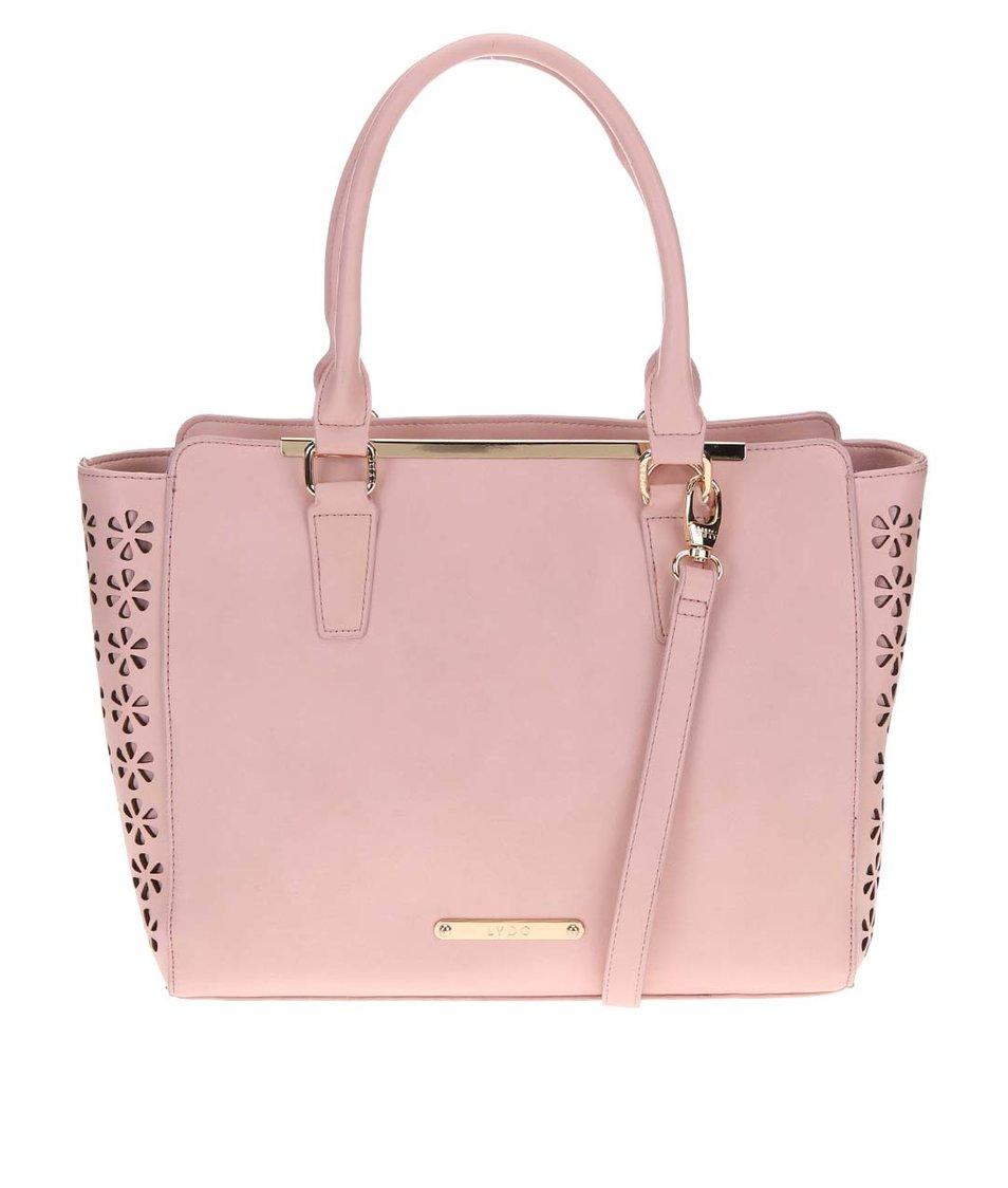 Světle růžový perforovaný shopper LYDC