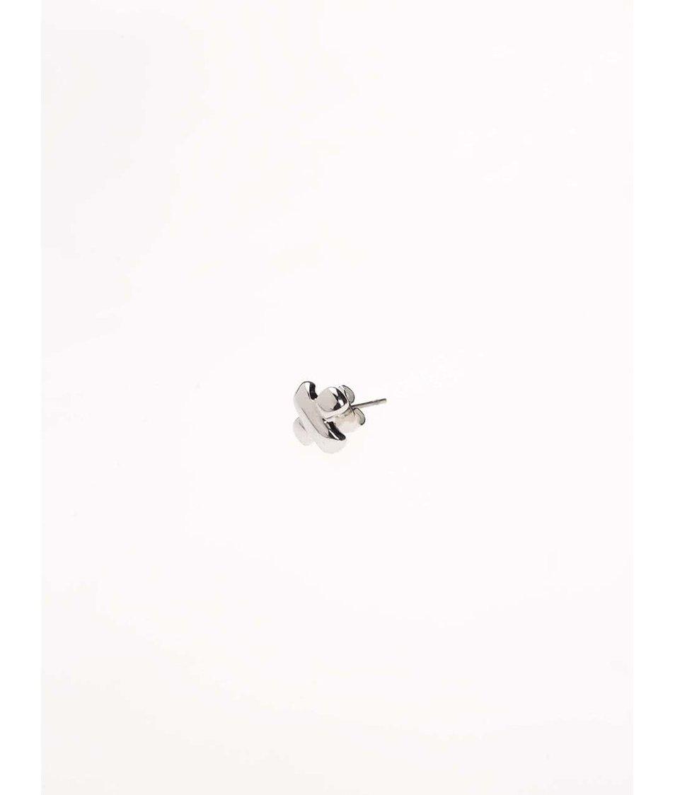 Sada náušnic ve stříbrné barvě v dárkové kazetě se zrcátkem Pierre Cardin