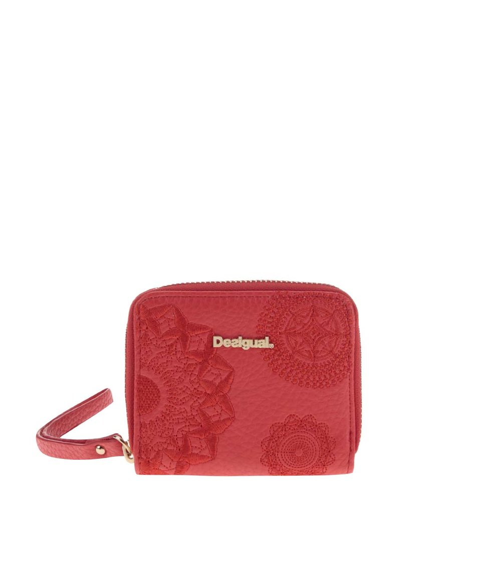 Červená malá peněženka s poutkem Desigual Liana