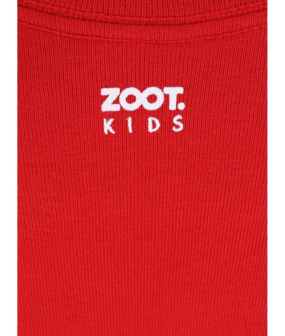 Červená dětská mikina ZOOT Kids Věřím na Ježíška