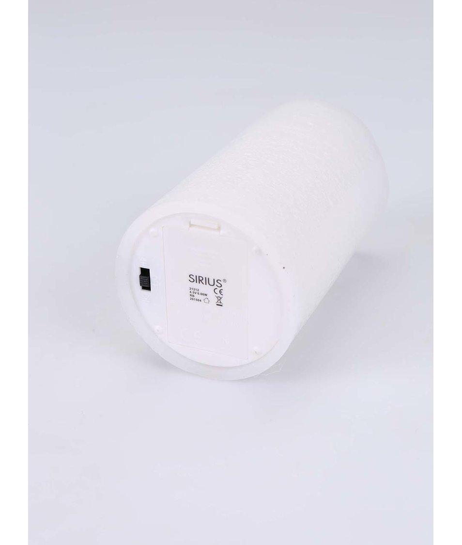 Bílá velká LED svíčka Sirius