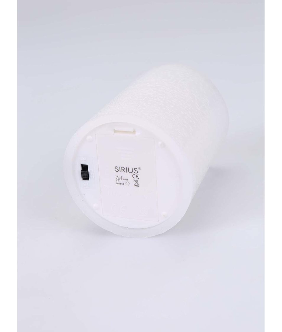 Bílá střední LED svíčka Sirius