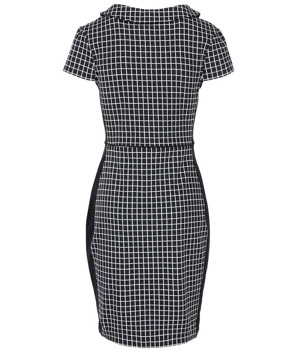 Černo-bílé kostkované šaty Fever London