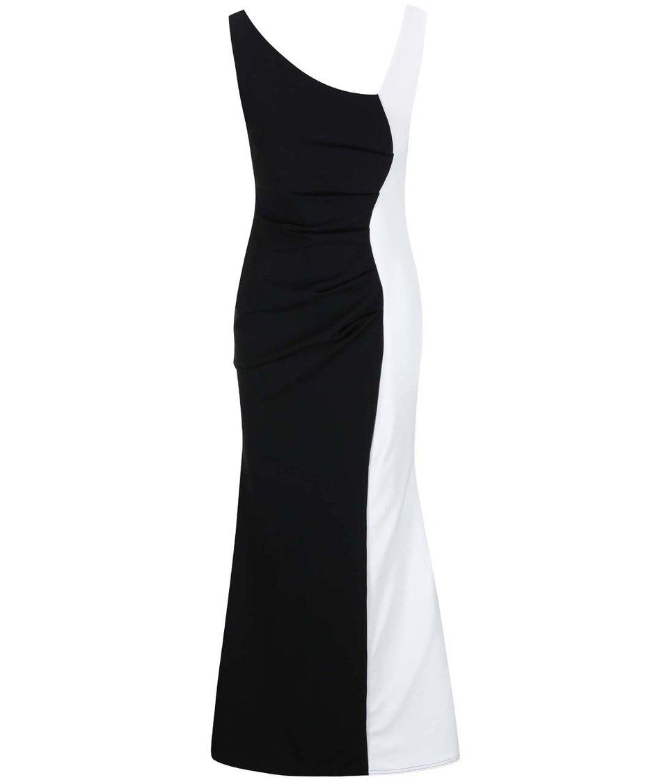 Bílo-černé dlouhé šaty Lipstick Boutique Deelia