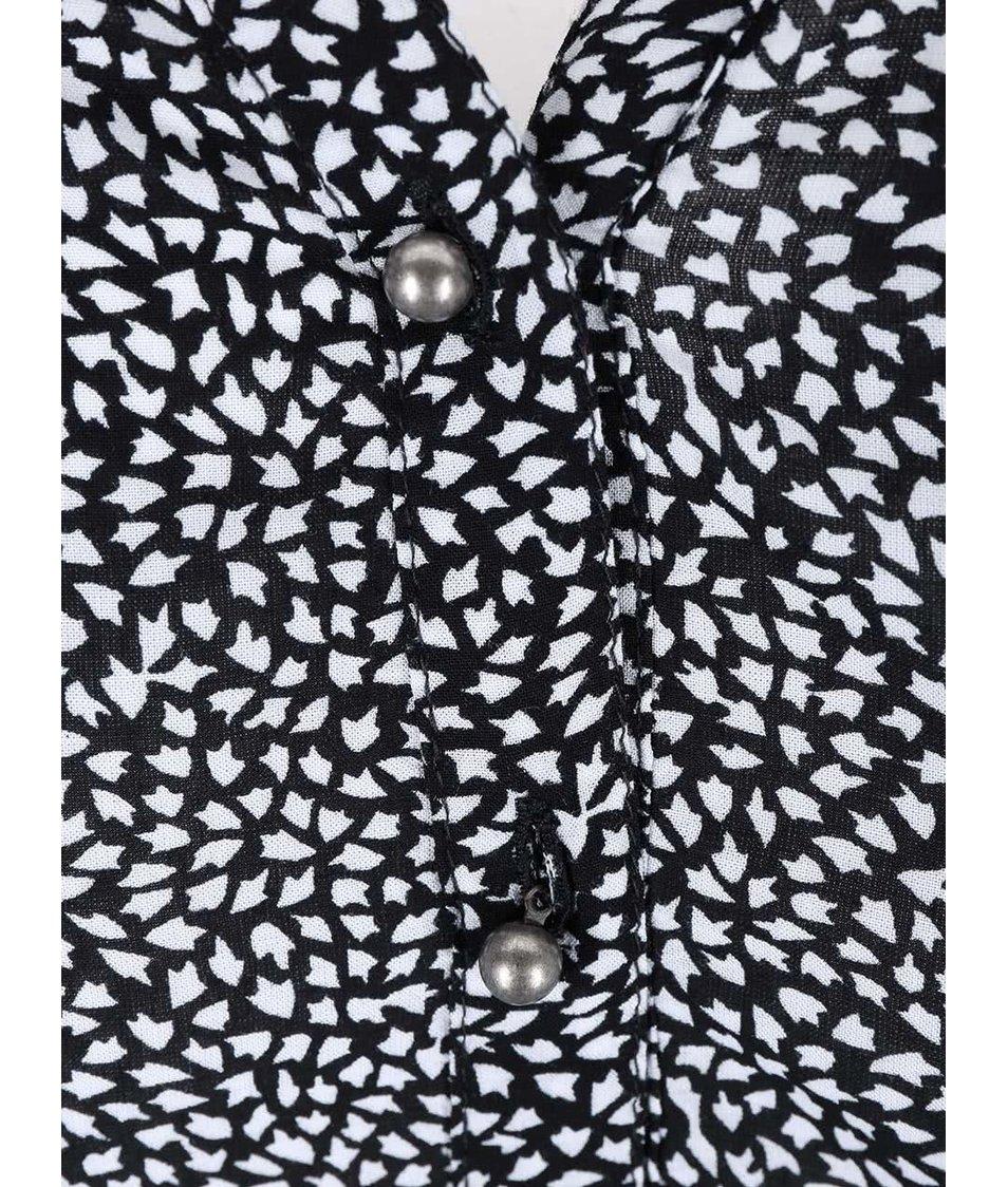 Černo-bílá vzorovaná halenka s.Oliver
