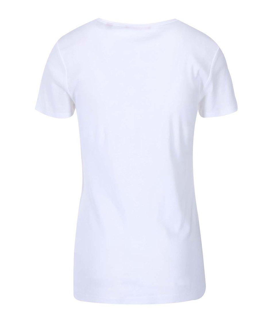 Bílé dámské tričko s krátkým rukávem s.Oliver