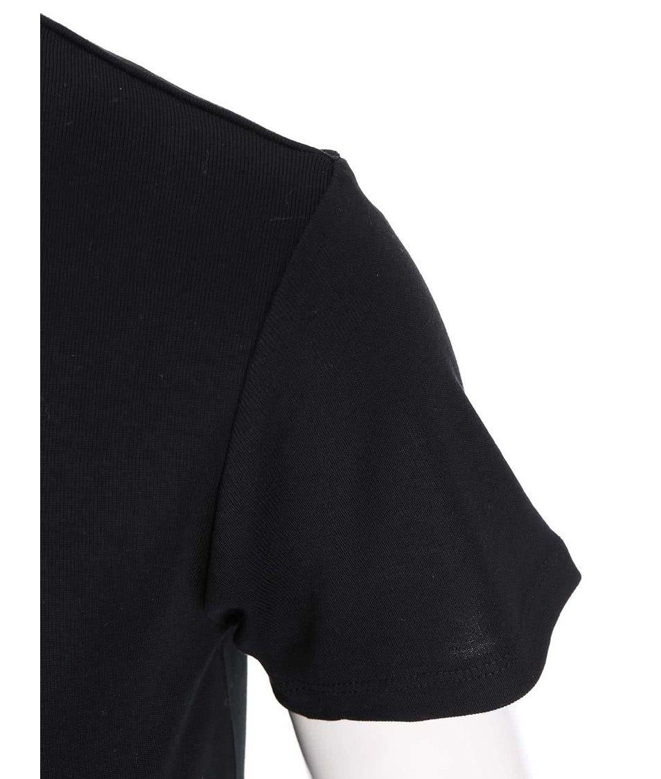 Černé dámské tričko s krátkým rukávem s.Oliver