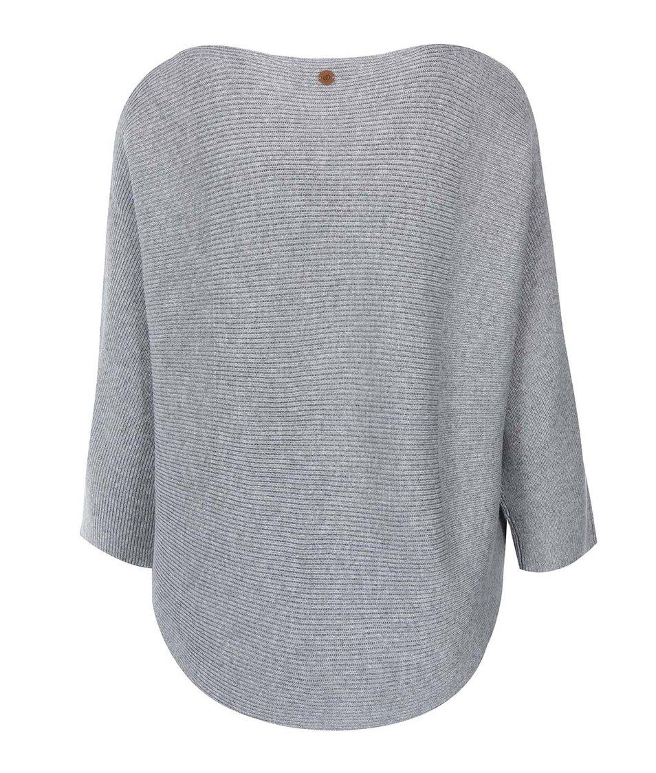 Šedý dámský volnější svetr s.Oliver
