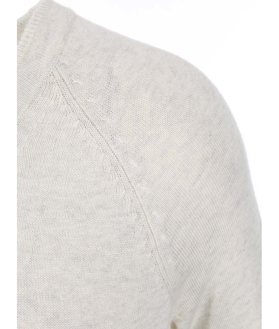 Bílý dámský žíhaný svetr s.Oliver