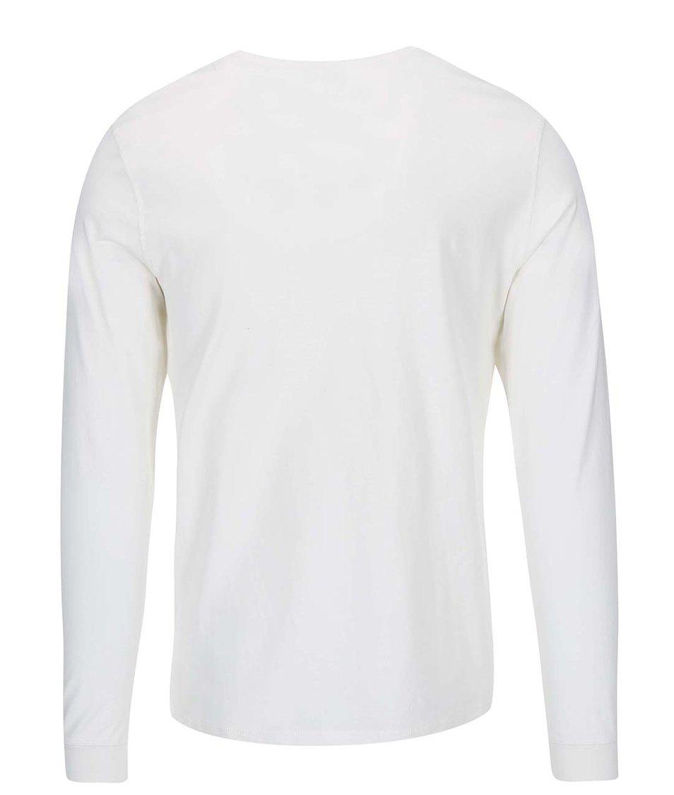 Bílé triko s dlouhým rukávem Blend