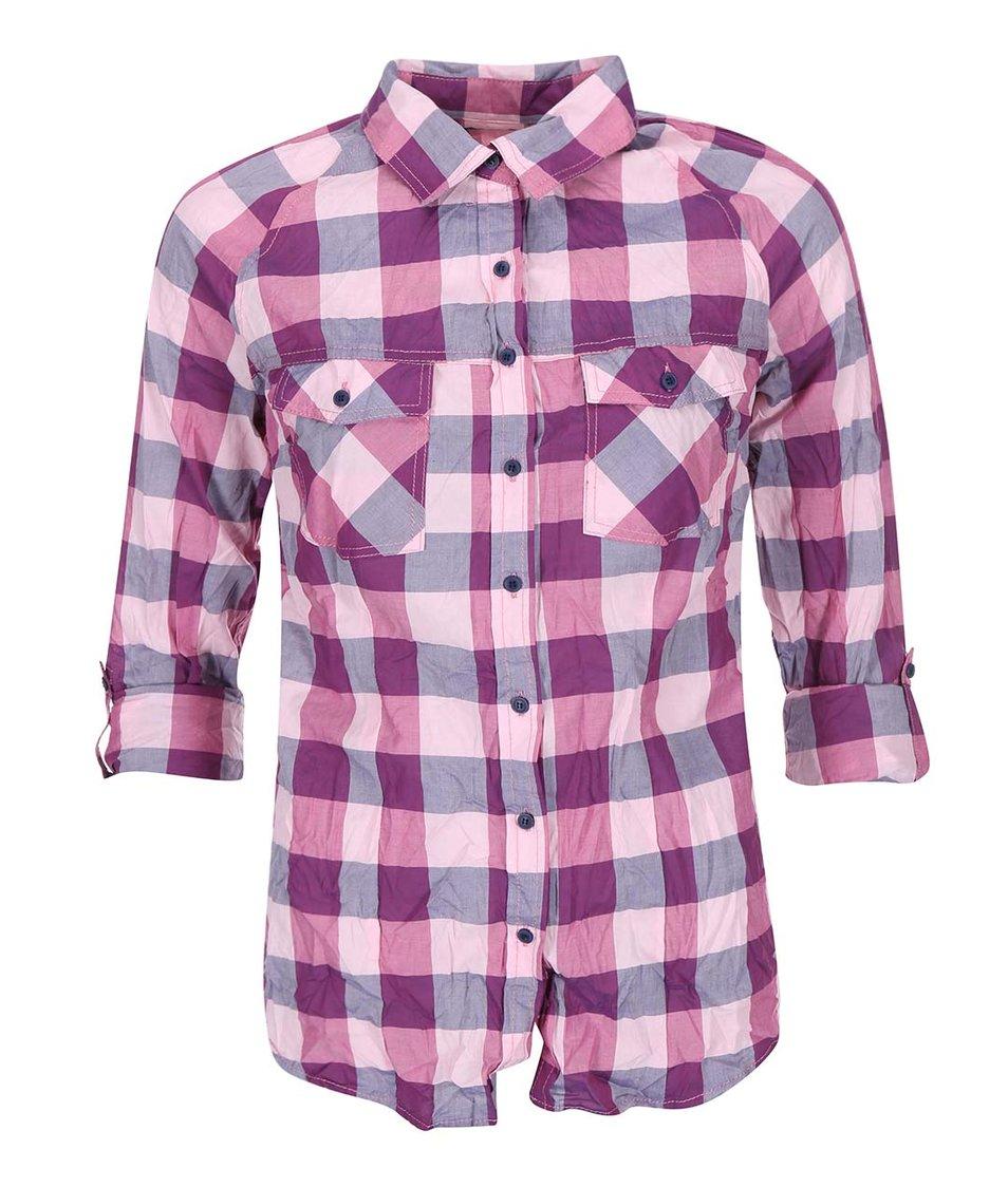 Fialová kostkovaná košile Haily´s Gabby