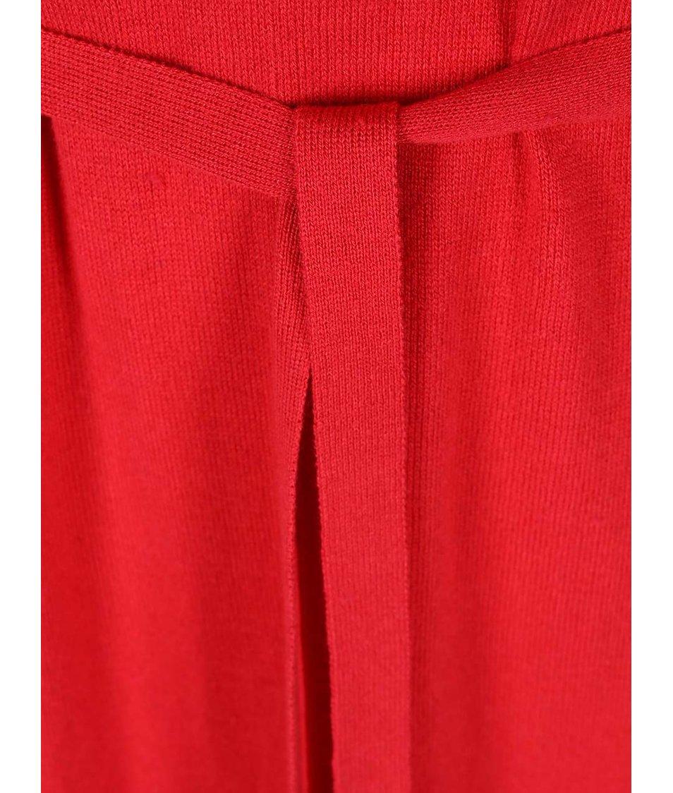 Červené úpletové šaty s dlouhým rukávem s.Oliver