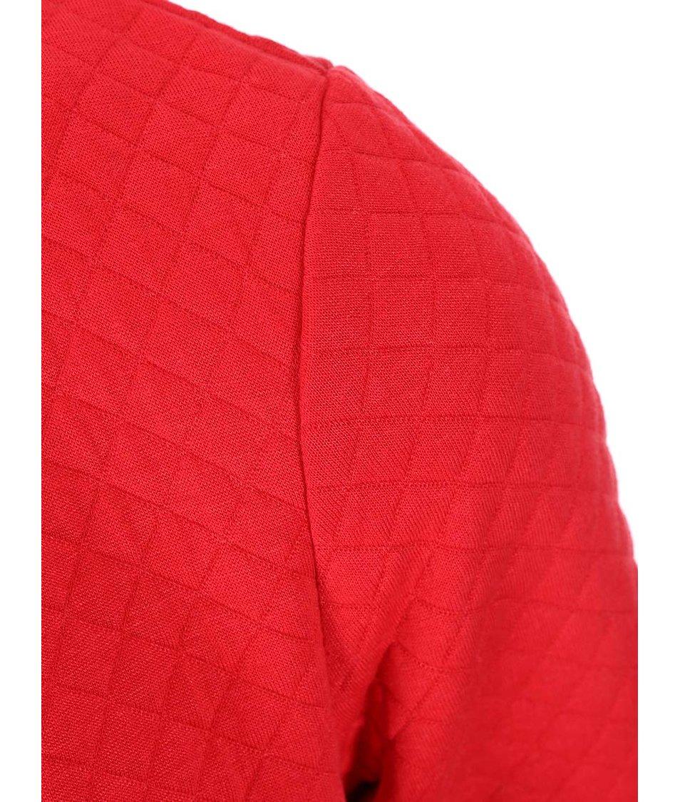 Červené šaty s plastickým vzorem s.Oliver