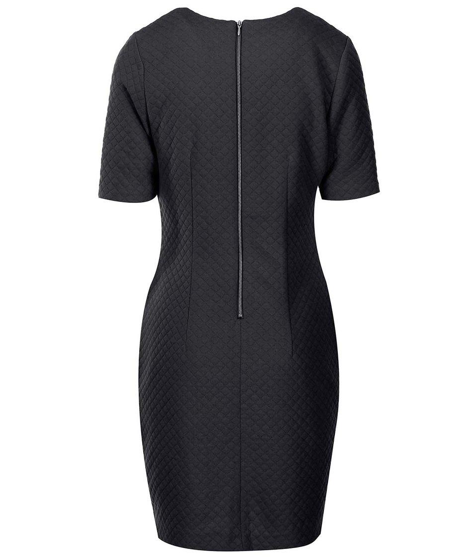 Černé šaty s plastickým vzorem s.Oliver
