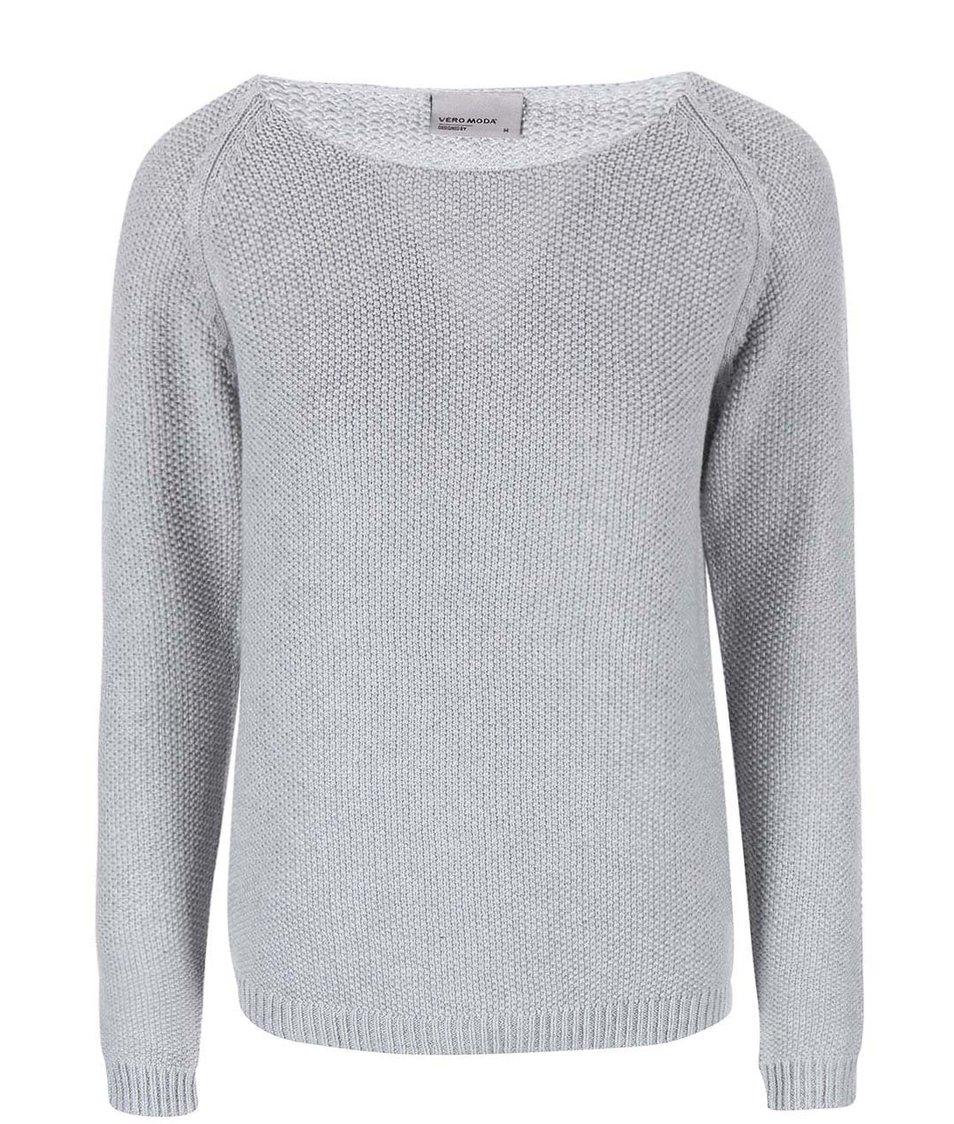 Světle šedý svetr Vero Moda Zora