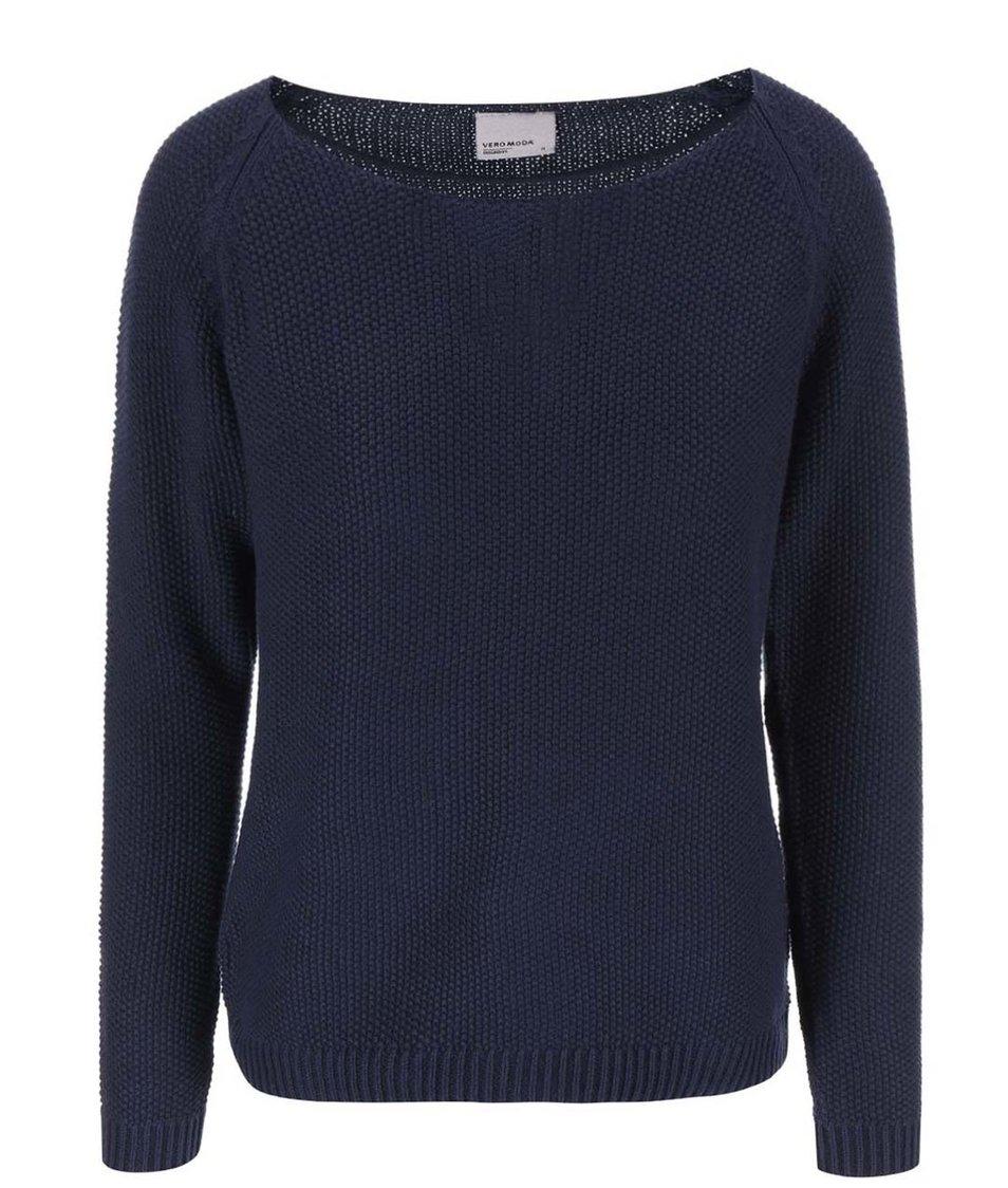 Tmavě modrý svetr Vero Moda Zora