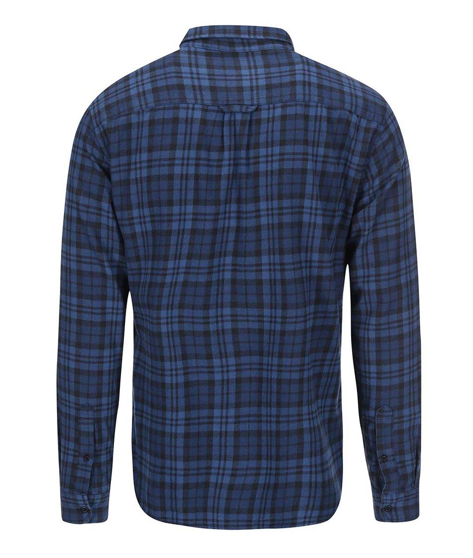 Tmavě modrá kostkovaná košile Blend