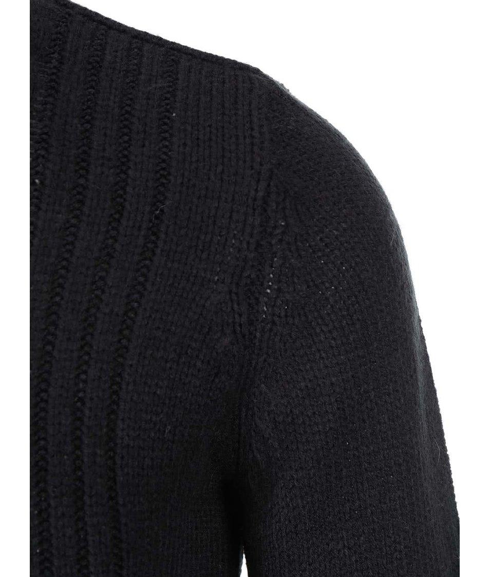 Černý svetr s šikmým límcem Blend