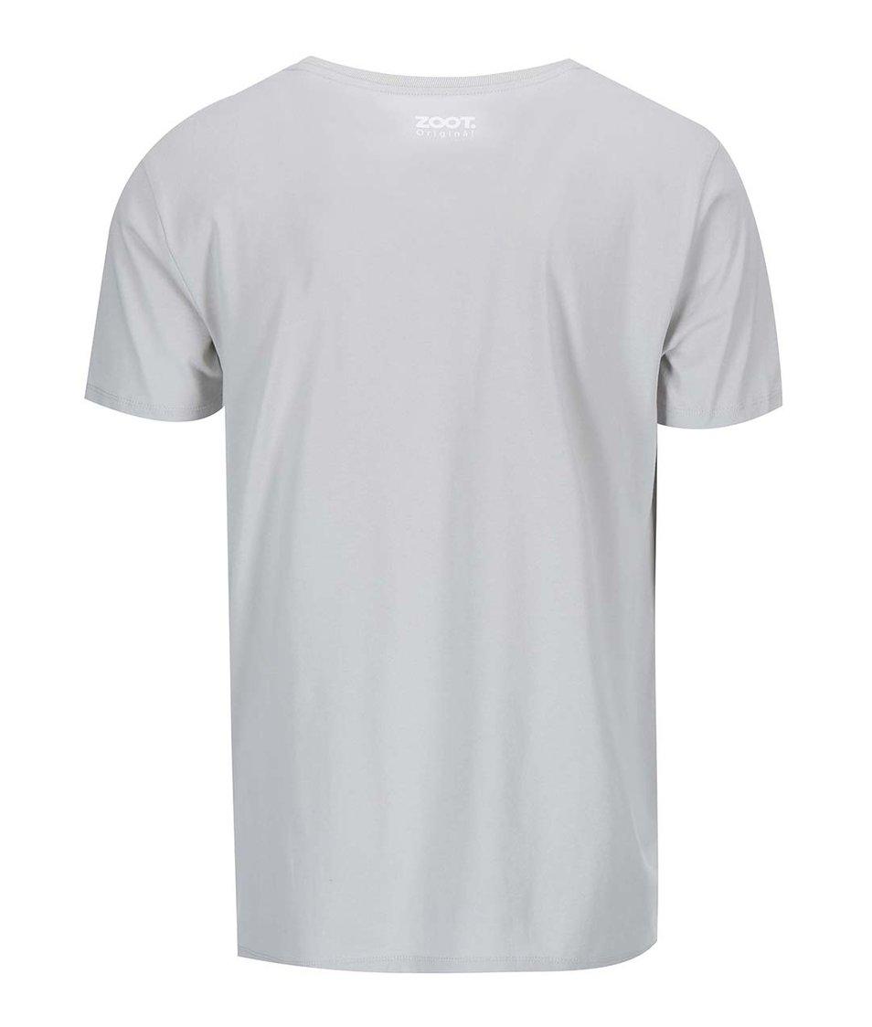 Šedé pánské triko ZOOT Originál Jelen a sníh
