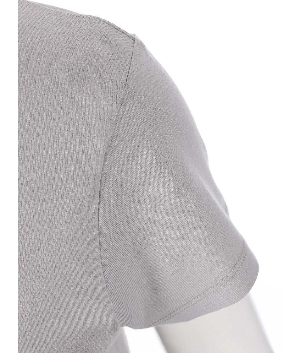 Šedé dámské tričko ZOOT Originál Jelen a sníh